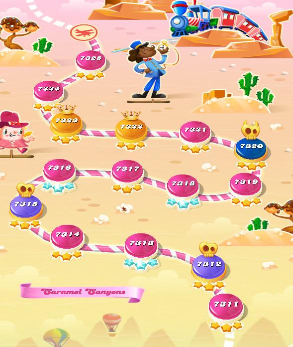 Candy Crush Saga level 7311-7325