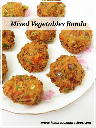 mixed vegetables bonda