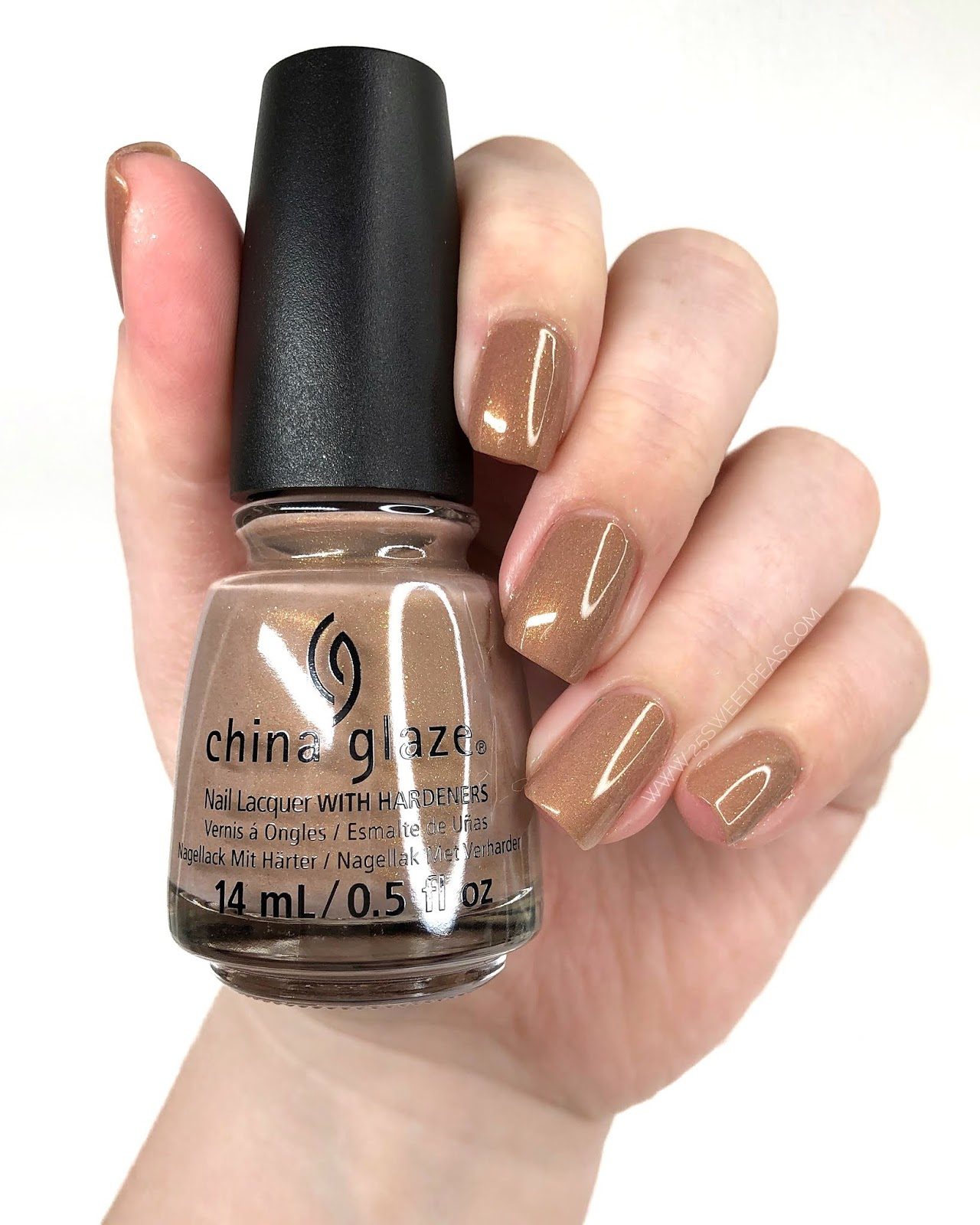 China Glaze Tan-do Attitude 25 Sweetpeas