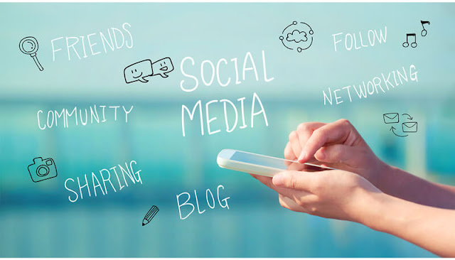 medsos media sosial social media community sharing friends follow comment networking blog note