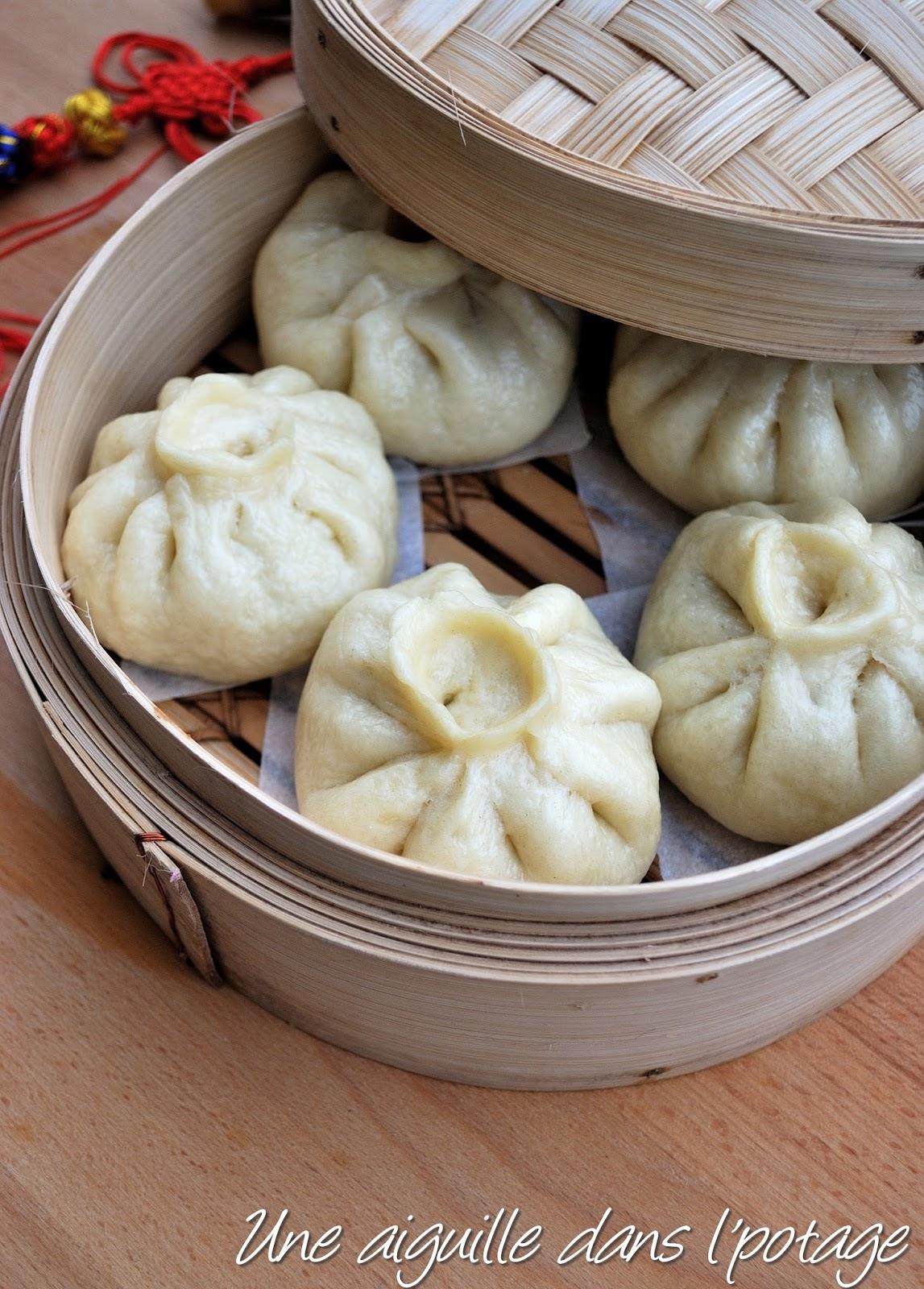 Une aiguille dans l 39 potage baozi au porc et chou chinois brioche farcie cuite la vapeur - Comment cuisiner le chou chinois ...