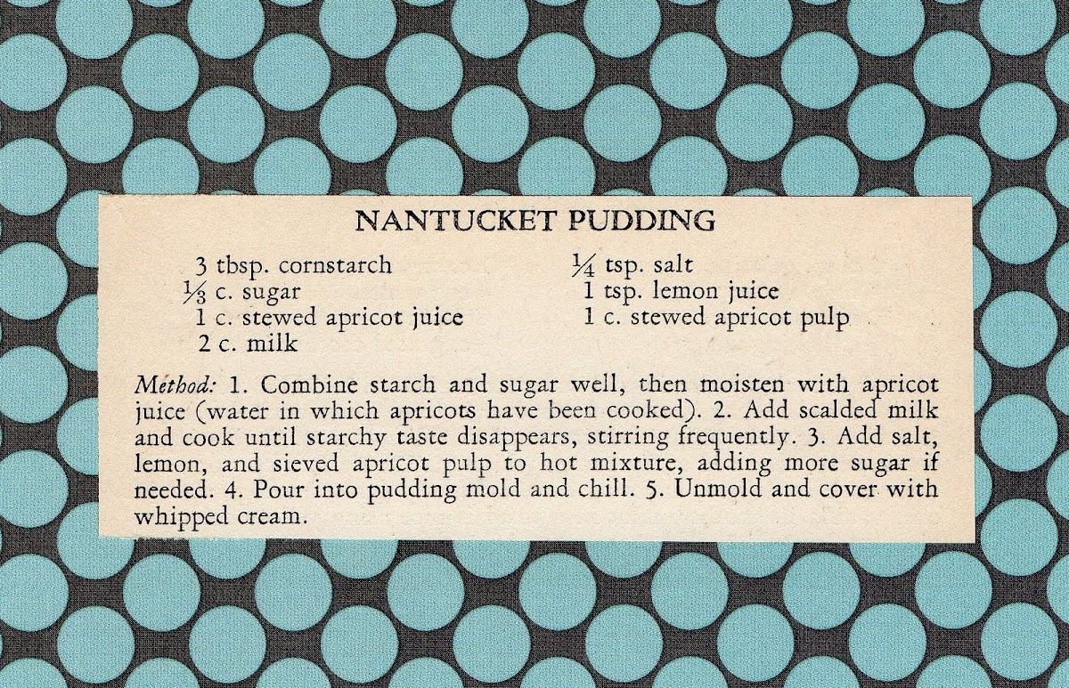 Nantucket Pudding (quick recipe)