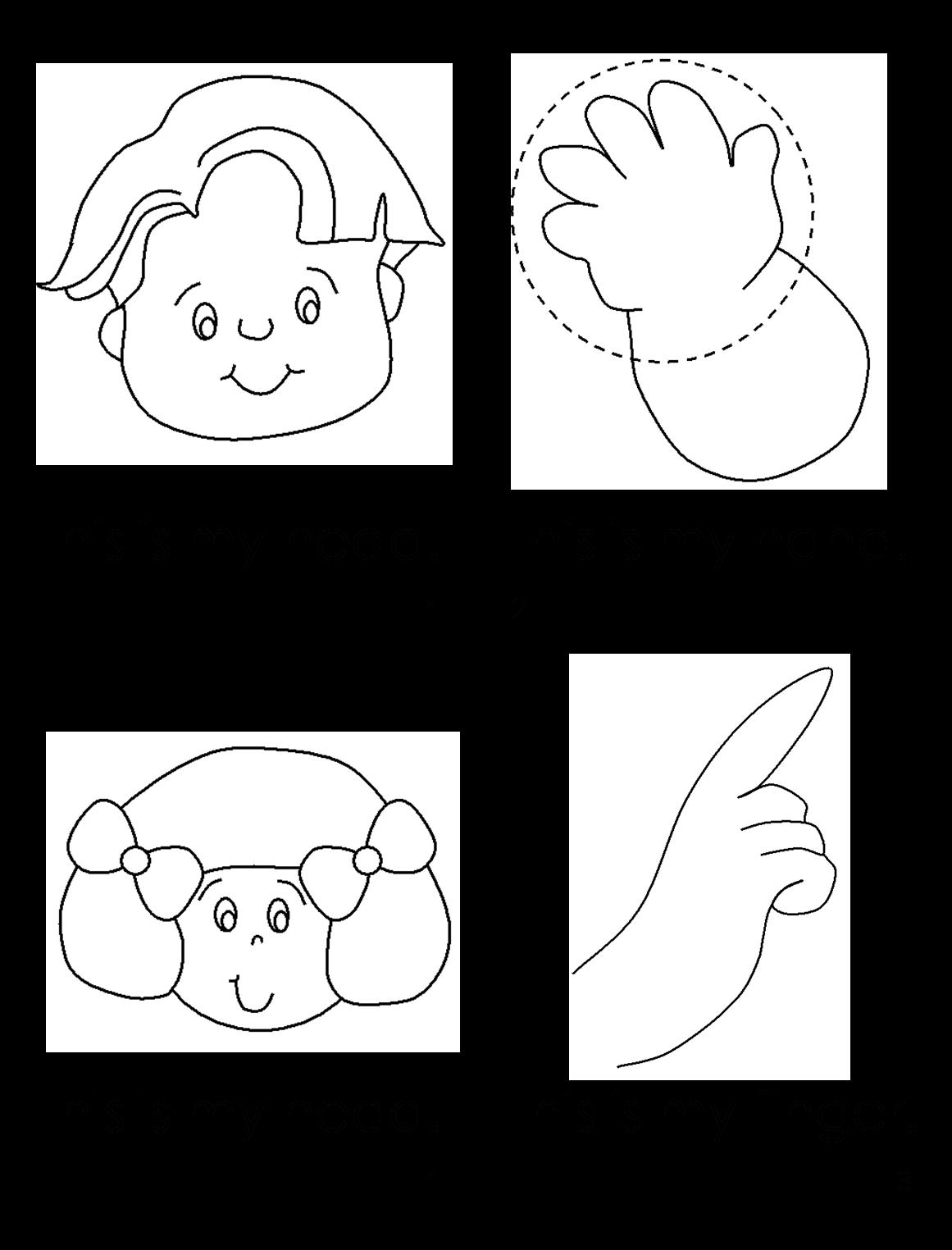 Esl Efl Preschool Teachers Body Theme