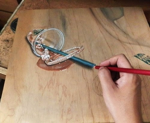 07-In-Progress-Hyper-Realistic-drawings-on-Boards-www-designstack-co