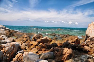indah nya tempat wisata Pulau Penyusuk bintan