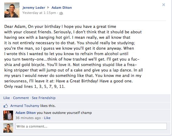 funny facebook birthday posts
