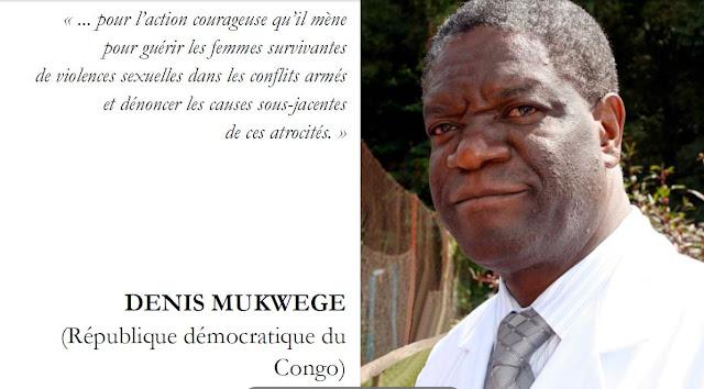 Docteur Mukwege, Kivu., L'homme qui répare les femmes, Thierry Michel., gynécologue, Denis Mukwege, lauréat du prix de la paix de Séoul, panzi bukavu,