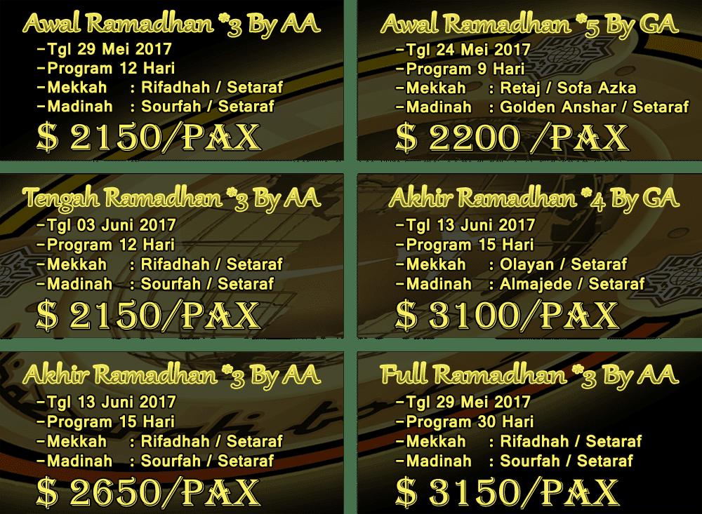 Paket Umroh Akhir Ramadhan 2017