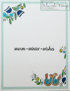 Warm Winter Wishes inside - photo by Deborah Frings - Deborah's Gems