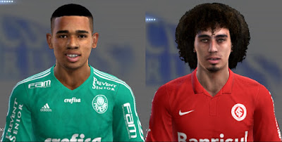 PES 2013 Gabriel Jesus and Valdivia Face by Danilo Silva Facemaker