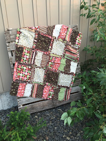 Cream pink brown green baby blanket for toddler bedding