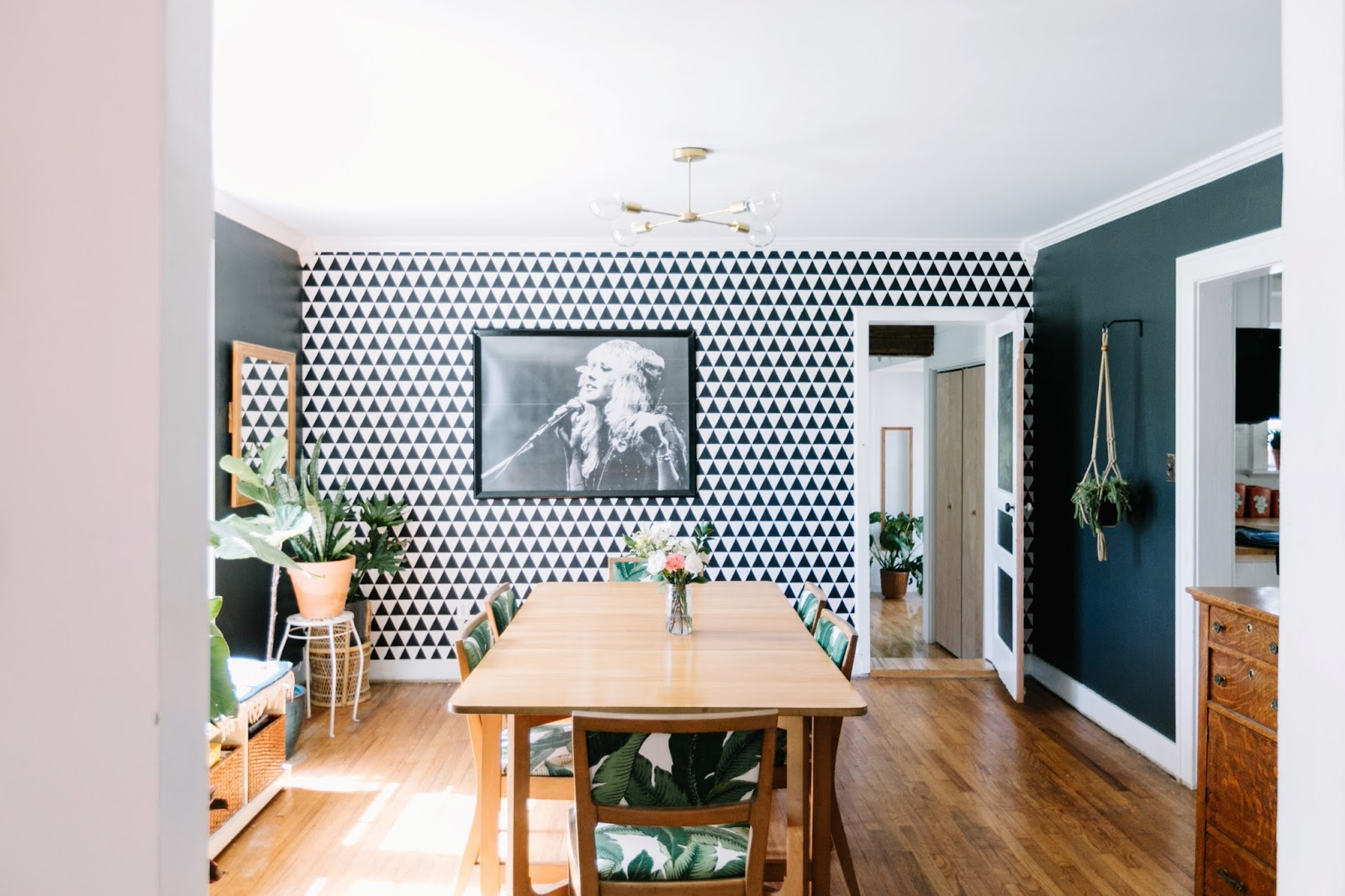 We Love Stevie And Knew Shed Be Perfect For Our Dining Room Wall Plus She Really Breaks Up The Wallpaper Pattern Print Cost 8 Frame Was