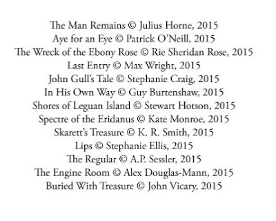 Image of author's names and story titles for Dead Men's Tales