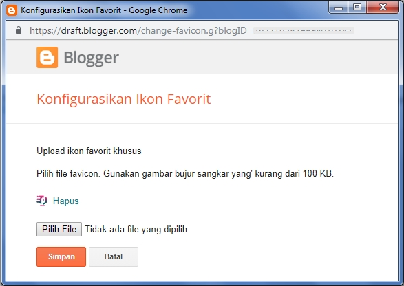 Mengganti favicon Blog