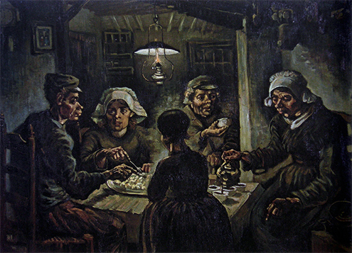 vincent-van-gogh-paintings-starry-night-museum-artwork-phrases-quotes-canvas-Potato-eaters-1885