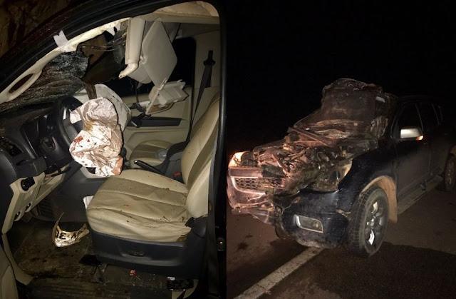 Deputado Laerte Gomes sofre acidente na BR 429