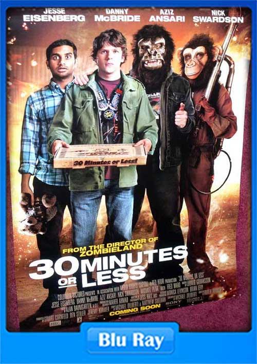 30 Minutes or Less 2011 720p BrRip 700MB 264 Poster