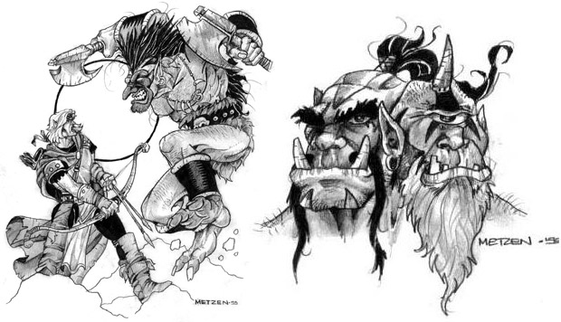 warcraft croqui illustration