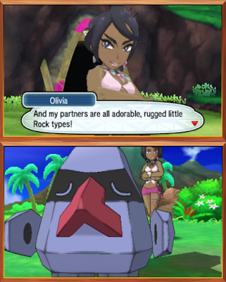 Olivia adorable rubbed little Nosepass rock type Kahuna Akala Island Pokémon Sun Moon