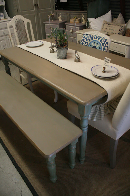 Reloved Rubbish Coco And Duck Egg Dining Table
