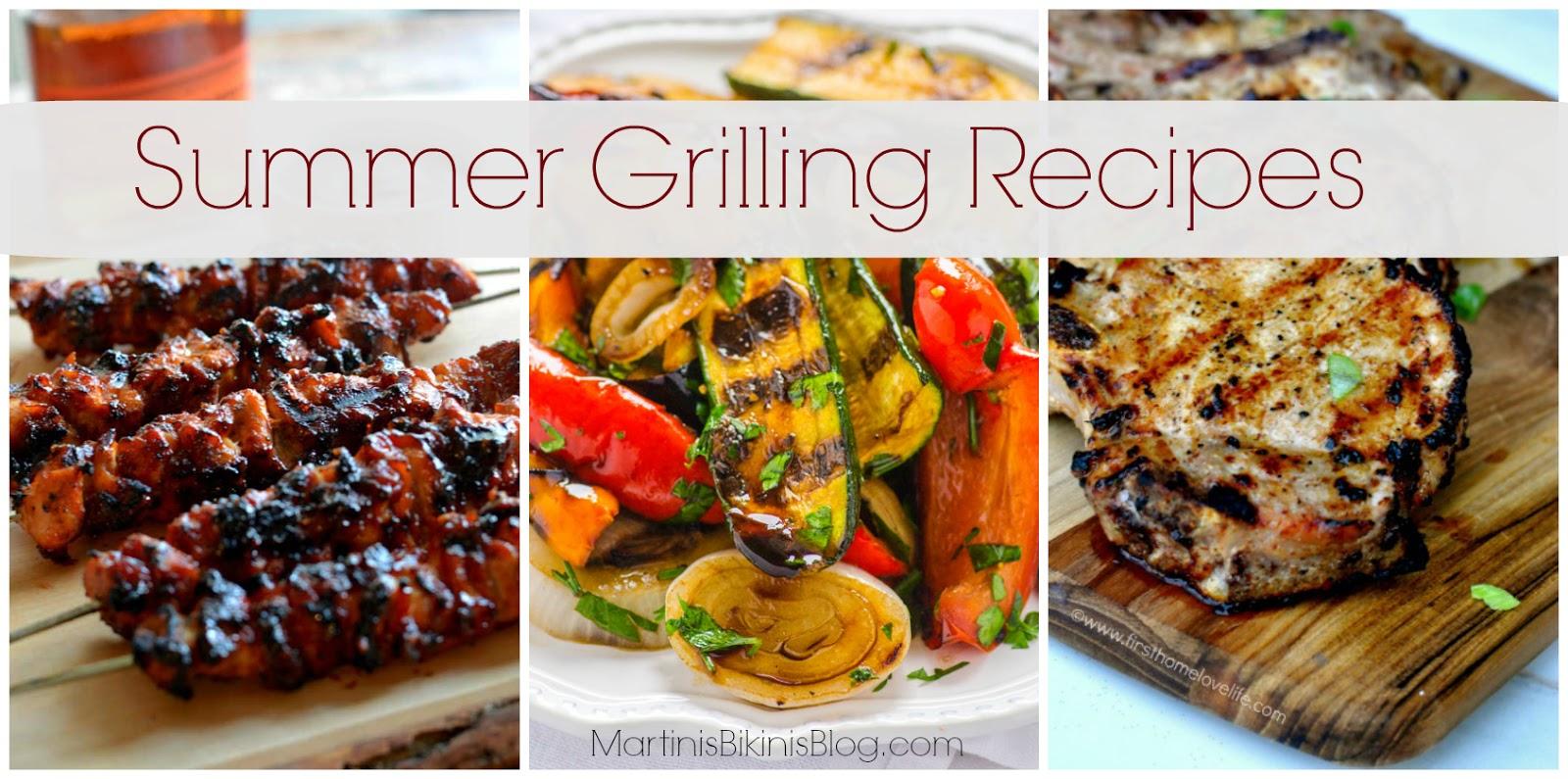 summer grilling recipes - martinis | bikinis