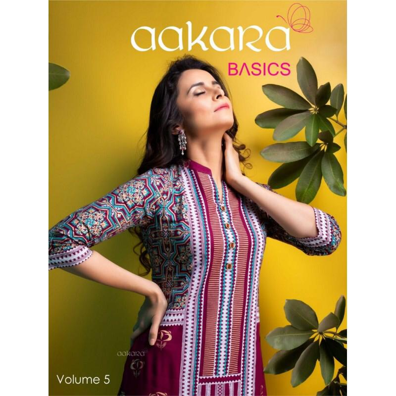 9565180371 Aakara Basics vol 5 Party wear kurtis wholesaler - Diwan fashion