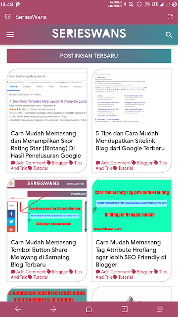 Cara Mengganti Warna Address Bar Blog di Browser HP