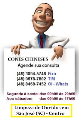 Limpeza de Ouvidos com a terapia dos Cones Chineses no centro de São José SC (48) 3094-5746