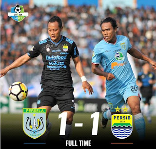 Persela Lamongan vs Persib Bandung 1-1 Liga 1 Sabtu 1/12/2018