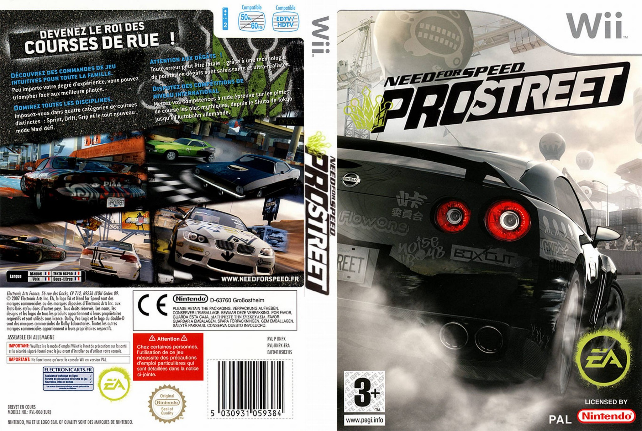 need for speed pro street wii ultra capas. Black Bedroom Furniture Sets. Home Design Ideas