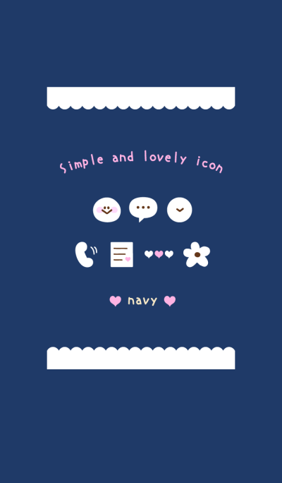 Simple and lovely icon navy