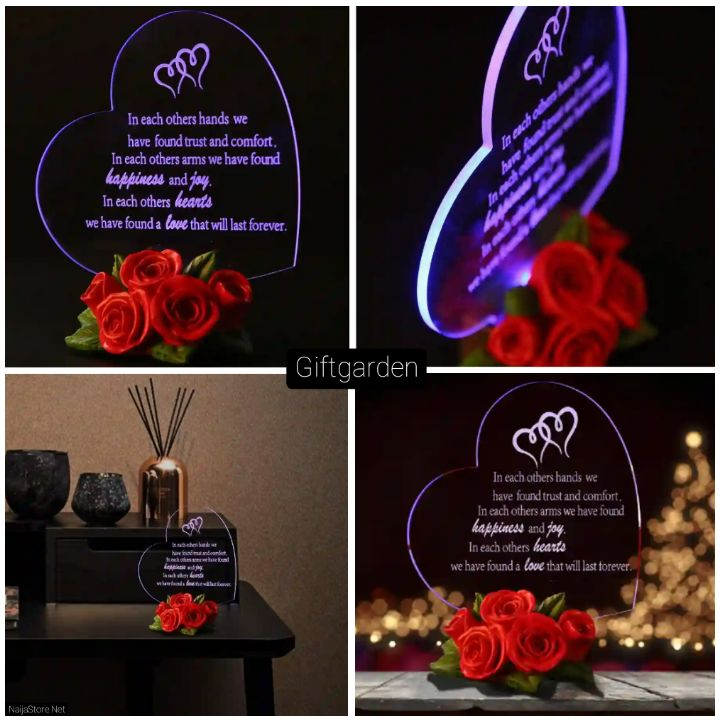 Birthday Gifts: Romantic Heart-Shaped Decor Gift for Lovers - Giftgarden (Sainthood)