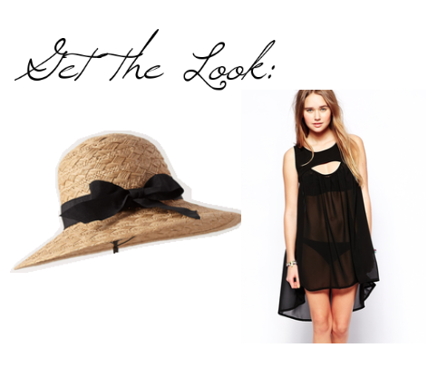 island inn sunhat anthropologie, island inn sunhat, black beach cover up asos, black beach cover up