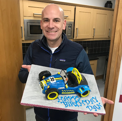 41 today, and delighted with my very own bespoke Caterham Roadsport Birthday Cake