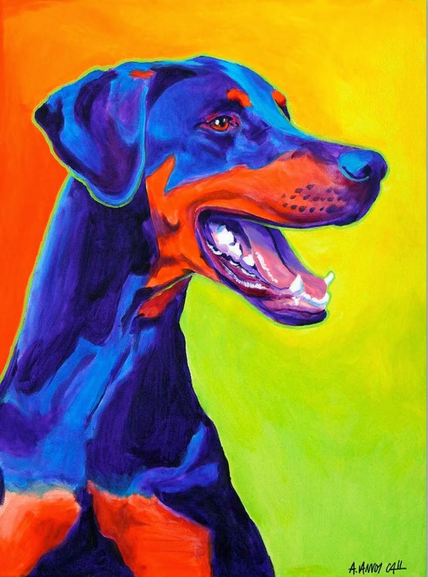 Cuadros modernos pinturas y dibujos como perros y gatos - Dibujos de gatos pintados ...