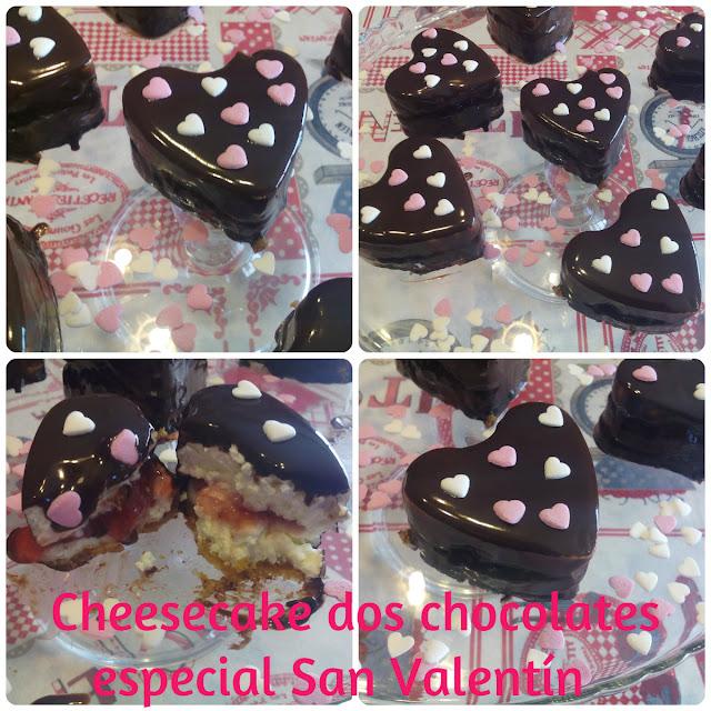 Cheesecake chocolate blanco especial san valentín