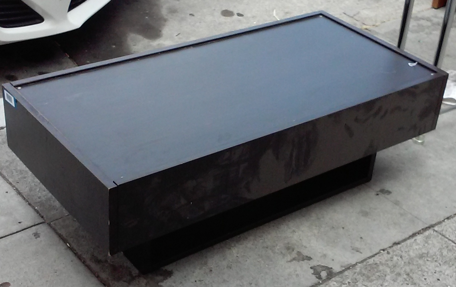 Uhuru Furniture Collectibles Sold Bargain Buy 4364 Modern Black Coffee Table With Hidden