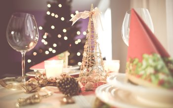 Wallpaper: Table for Christmas celebration