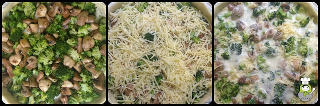 cómo preparar una quiche de brócoli y champiñones