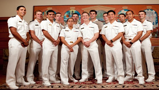USNA Midshipmen at St  Benedict's Prep