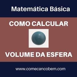 Postagem ensinando como calcular o volume de uma esfera