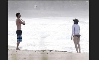 justin Timberle disfrutan playas de Puerto Rico