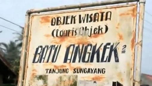Objek Wisata Batu Angkek-Angkek Tanjung Sungayang, Tanah Datar Sumatera Barat