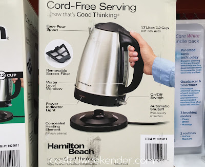Costco 1025011 - Hamilton Beach Electric Kettle 40993E - great for any tea lover