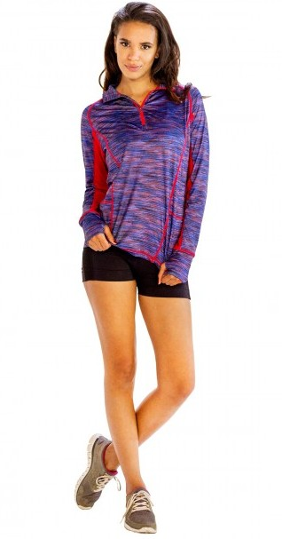 womens Blue And Red Sweatshirt