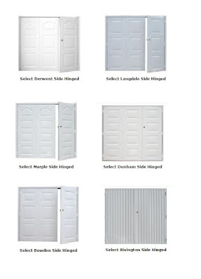 Click to enlarge and view the Select side-hinged doors from Garage Door King