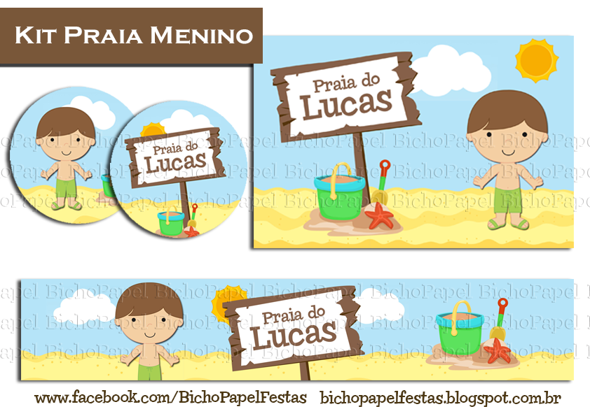 Kit Festa Praia Menino