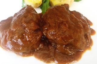 Carrilleras de cerdo en salsa.