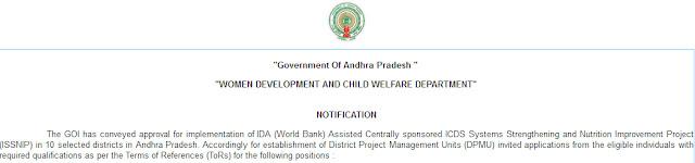 AP WDCW Recruitment wdcw.ap.gov.in Notification