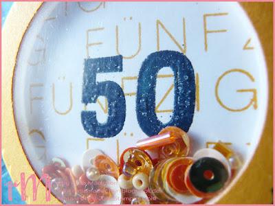Stampin' Up! rosa Mädchen Kulmbach: Diagonale Geburtstagskarte mit Schütteldrehverschluss
